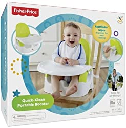 Fisher Price Quick-Clean Portable Booster, Multi Color