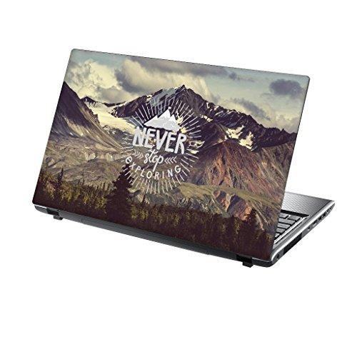 er Skin Vinyl Aufkleber mit bunten Mustern für 15 Zoll 15,6 Zoll (38cm x 25,5cm) Laptop Skin erforschen Berge ()