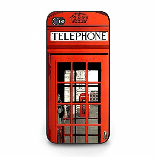 Iphone 5/5s Case,Novelty Exquisite British Phone Booth Phone Case Cover for Iphone 5/5s Phone Booth Shell Cover Color143d
