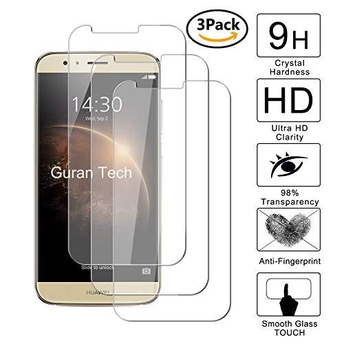Guran [3-Unidades] Protector de Pantalla Vidrio Cristal Templado para Huawei G8 Smartphone Cristal Vidrio Templado Film (9H, 2.5D Edge, 0.3mm)