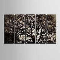 Albero ombra decorazione pittura tela senza cornice