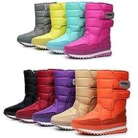 DADAWEN Women's Waterproof Frosty Snow Boot Purple US Size 10