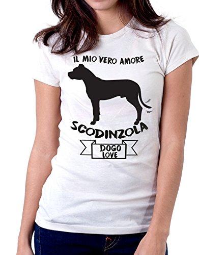 Tshirt Il mio vero amore scodinzola - dogo love - dog - humor - tshirt simpatiche e divertenti - Tutte le taglie by tshirteria Bianco