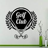 yaoxingfu Etiqueta de la Pared Etiqueta de Vinilo Deporte Patrón de Club de Golf Hojas Decoración del hogar Gimnasio Decoración Ventana Insignia Dormitorio Mural Arte del Piso42x42 cm