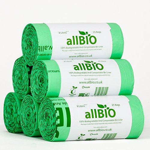 8 Litre x 150 bags allBIO 8 Litre 100% Biodegradable