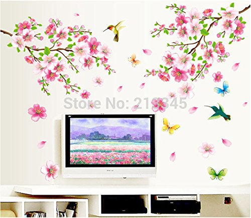 new-saturday-monopoly-pink-peach-flower-birds-butterfly-romantic-home-living-room-decorative-wall-st