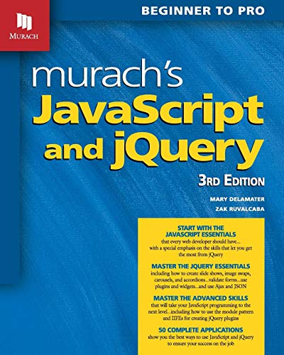 EBOOK [P D F] Murach s Javascript and Jquery: Beginner to