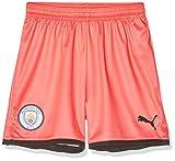 PUMA MCFC Shorts Replica Jr, Pantaloncini Unisex Bambini, Georgia Peach/Black, 176