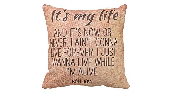 Pillow pillow cuscino personalizzato frase canzone jon bon