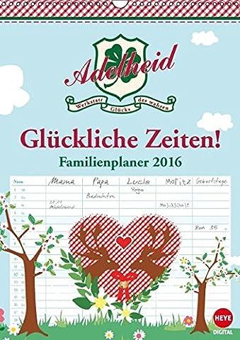 Adelheid Familienplaner (Wandkalender 2016 DIN A3 hoch): Der Kalender für die glückliche Familie! (Monatskalender, 14 Seiten) (CALVENDO Spass)