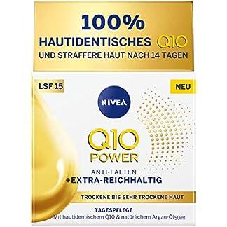 Nivea Q10 Power Antiarrugas + cuidado de día extra rico para piel seca, 50 ml