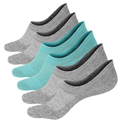 3 Paar Baumwoll Sneaker Ballerina Socken Atmungsaktiv Damen Unsichtbar Kurzsocken für Loafers Boots Schuhe (Casual Low Socken)