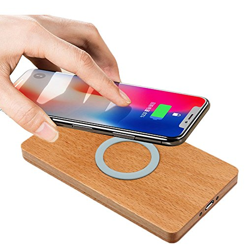 Huhua QI Wireless Ladestation Wireless Ladegerät Lade Pad für iPhone 8/8 Plus/X (Weiß)
