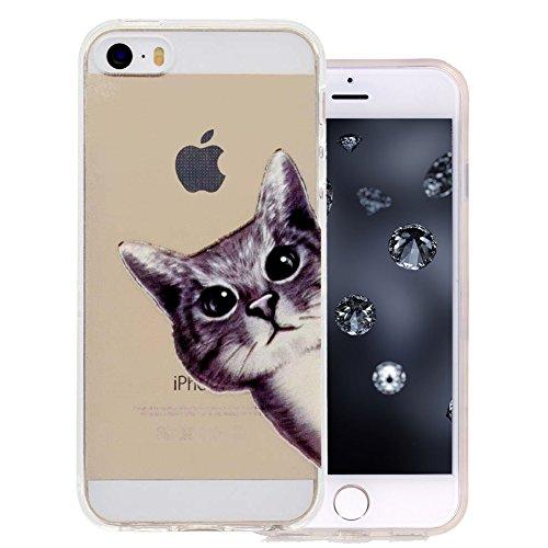 aeeque® 28Motive transparent Design Silikon TPU Flexibel Anti Schock Schutzhülle für iPhone SE/iPhone 5S/iPhone 54.0Zoll (Iphone 4 Haut Bedeckt)
