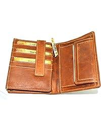 06bd30dc6b910 flevado RFID Schutz Große Damen Herren Geldbörse Portemonnaie Leder  Geldbeutel mit 18 Kartenfächer