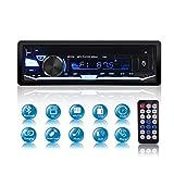 Autoradio Bluetooth Ricevitore, QINFOX Lettore Multimediale Digitale, Autoradio Ad Una Via, Lettore Da Auto Ricevitore USB / SD / TF / FM / EQ/ Audio Vivavoce con 7 Colori Chiari Regolabili