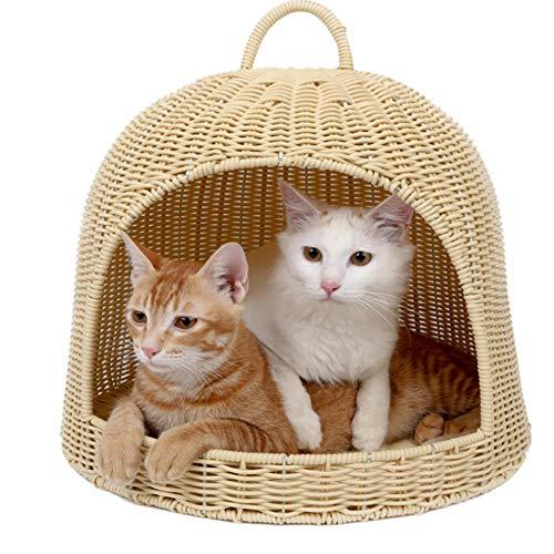 Haustierbett Imitation Rattan Katze Wurf kleine Hundezwinger Haus Villa Haustier liefert abnehmbar und waschbar