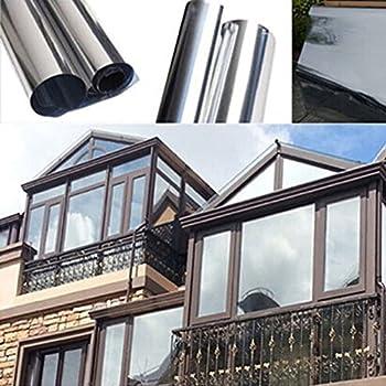 Favolook pellicola adesiva riflettente per finestre per proteggere la privacy con effetto a for Pellicola a specchio per vetri