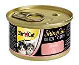 GimCat ShinyCat Kitten,Katzenfutter in Gelee für junge Katzen ab 8 Wochen,24 Dosen (24 x 70 g)