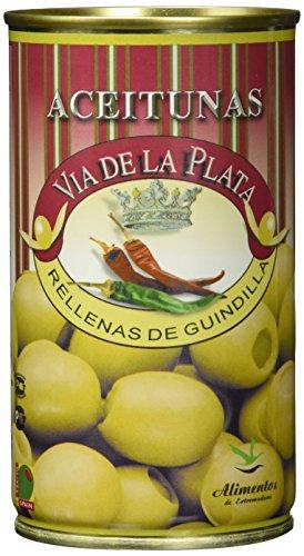 Aceitunera del Guadiana Aceitunas Rellenas de Guindilla, 3er Pack (3 x 0.35 kg)