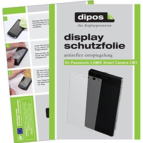 dipos I 6X Schutzfolie matt passend für Panasonic Lumix CM1 Folie Displayschutzfolie
