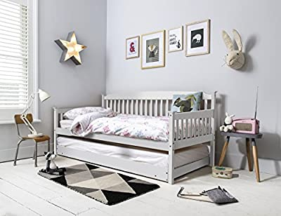 Isabella Day Bed in White with Pull out Trundle Single Bed Noa & Nani