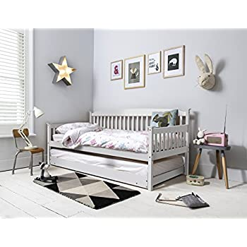 day bed single bed with underbed in white 2 beds in 1. Black Bedroom Furniture Sets. Home Design Ideas