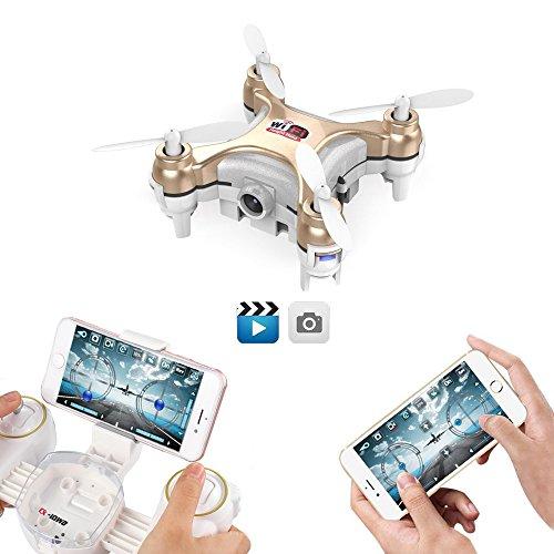 GoolRC Wifi FPV Mini Drone con fotocamera Video Live, 3D Flips, alta/bassa velocità, alta Hold Mode, una chiave di restituire più piccolo RC Quadcopter