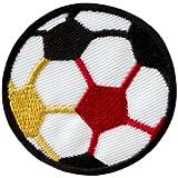 Alemania fútbol fútbol Negro Rojo Oro–Parche para planchar bordados Patch
