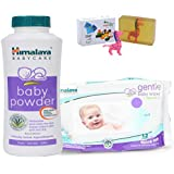 Himalaya Herbals Baby Powder (100g)+Himalaya Herbals Gentle Baby Wipes (12 Sheets) With Happy Baby Luxurious Kids Soap With Toy (100gm)