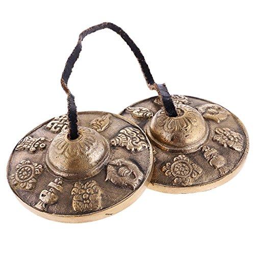Baoblaze Tingsha Tibetische Meditation Glocke mit Glückssymbole