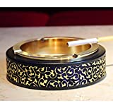Best Modern Elements Ashtrays - X&M Windproof retro ashtray,Tabletop ashtray for indoor or Review