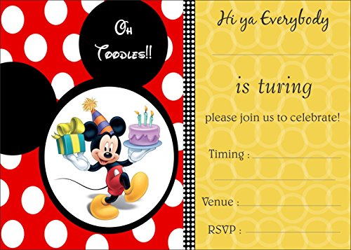 Birthday Invitation Card on Metallic Sheet (Pack of 50 Cards) NIC-008