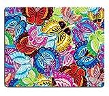 17P02409 Hochwertige Kreativität Mousepad Gaming Mouse Pad Nahtlose Hintergrund des Bunten Schmetterlings