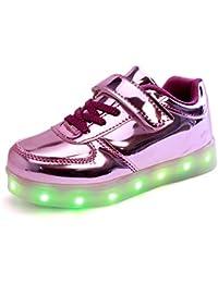 25b3b104e7a7a9 DoGeek LED Schuhe Kinder 7 Farbe USB Auflade Leuchtend Sportschuhe Led  Sneaker Turnschuhe (Wählen Sie 1 größere Größe) B01MSZSVXC