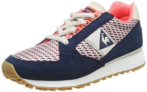 Le Coq Sportif Damen Eclat W Geo Sneaker Blau (vestito Blu / Infuocato Cordress Blu / Infuocato Cor)