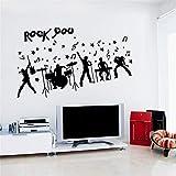 Aha Yo Abnehmbare Wandsticker - Rock - Band Bar Schlafzimmer, Esszimmer Wand Dekoration 60Cm X 90Cm