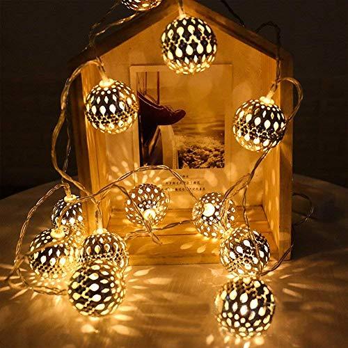 e Kugel Silber mit warmweiß Batteriebetrieben Beleuchtung Dekoration für innen Hochzeits Geburtstag Inneneinrichtung ()