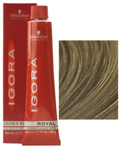 Schwarzkopf Igora Royal 8-00 Light Blonde Natural Extra Permanent Hair Color 2.1 fl. oz. (60 g) by Schwarzkopf Professional - Extra Light Natural Blonde