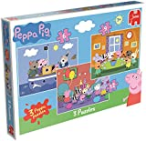 Jumbo Games Peppa Pig Trio Jigsaw Puzzles (6/9 and 12-Piece)