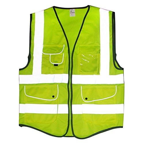 Preisvergleich Produktbild kumeed Hi Vis Executive Manager Weste Safetywear Hi Viz Executive Hohe Sichtbarkeit Sicherheit Weste Pocket Weste