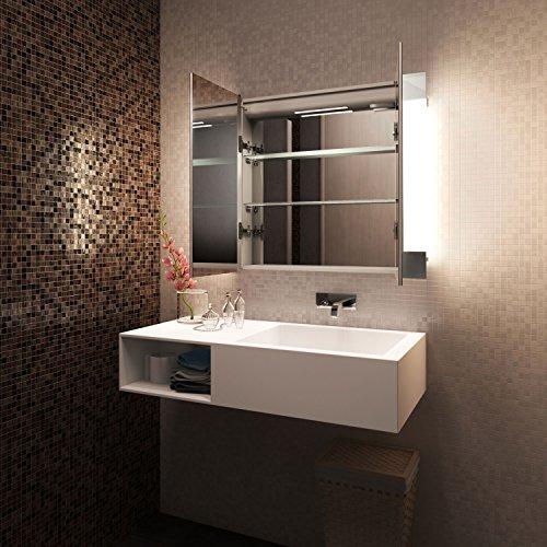 Diamond X Collection Schrank mit SpiegelheizungRGB-UnterlichtSensor & Rasiersteckd innen Bild 4*
