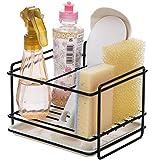 Kaxich Kitchen Sponge Holder Sink Organiser Caddy Dishwashing Liquid Soap Brush Towel Drainer Rack Bathroom Storage