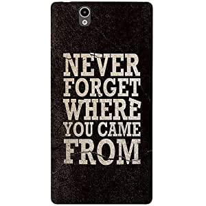 Casotec Thought Design 3D Printed Back Case Cover for Sony Xperia Z C6602