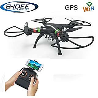 s-idee® 17115 H809W GPS WiFi Rc Drohne HD Kamera FPV RC Quadrocopter Höhenstabilisierung, One Key Return, Coming Home / Headless VR Drohne Funktion 2.4 GHz mit Gyro Drone mit Camera 720p