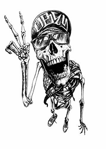 Tattoo temporär brazo Brazo tatuaje pegatinas Calavera Esqueleto...