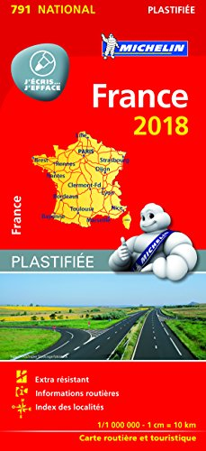 FRANCE PLASTIFIÉE 17791 CARTE 'NATIONAL' MICHELIN KAART 2018