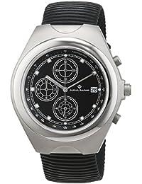 Alfa Saphir caballeros-reloj caucho cronógrafo de cuarzo AS-4000-S