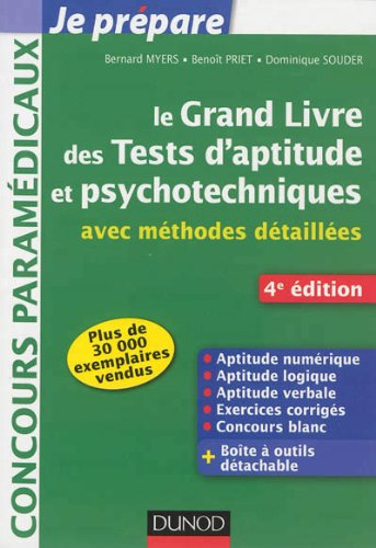 Le grand livre des tests d'aptitude et psychotechniques - 4e ed - avec méthodes détaillées