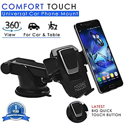 Mystical Master® Mobile Holder & Car Mount (4th Generation) for Car Dashboard/Windshield & Table for all Phones & Cars